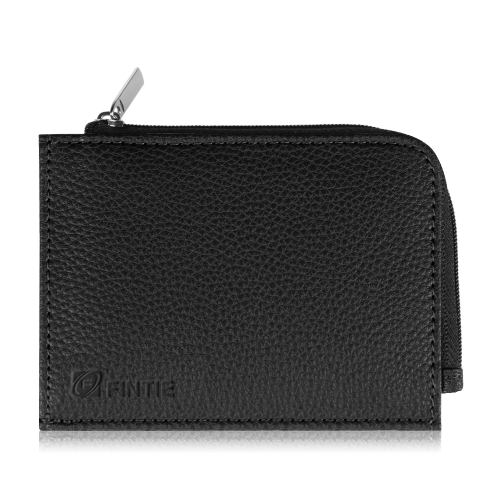 Fintie Premium PU Leather Zipper Change Purse Coin Wallet Card Holder Pouch for Men and Women, Black