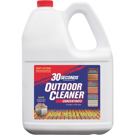 30 SECONDS Outdoor Cleaner For Algae, Mold and Mildew, 2.5 Gallons Concentrate