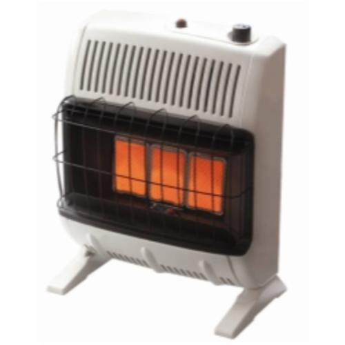 Vent-free Infrared Radiant Gas Heater, 10k Btu, Ng