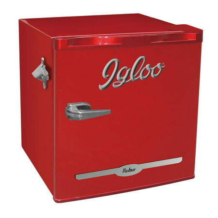 - Igloo 1.6 cu ft Retro Compact Refrigerator with Side Bottle Opener