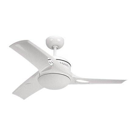 Montecarlo 3Mtr38who L 38 Inch Mach 2 Contemporary Indoor Ceiling Fan In White