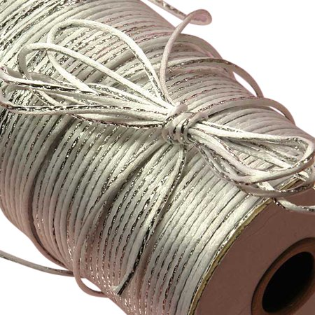 - White/Silver Metallic Rat Tail Cord 2mm X 200 Yards  by Paper Mart