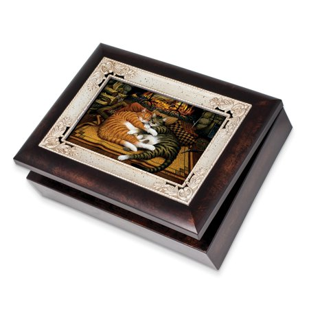 Hearts Of Fire Woodgrain Keepsake Music Box