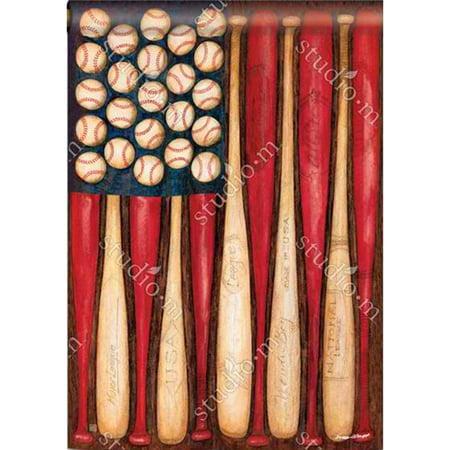Magnet Works BreezeArt House Flag - Baseball Season