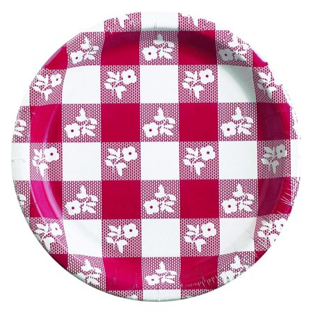 - Creative Converting Red Gingham Paper Plates, 25 ct