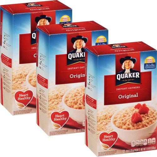 Quaker Original Instant Oatmeal, 0.98 oz, 12 count