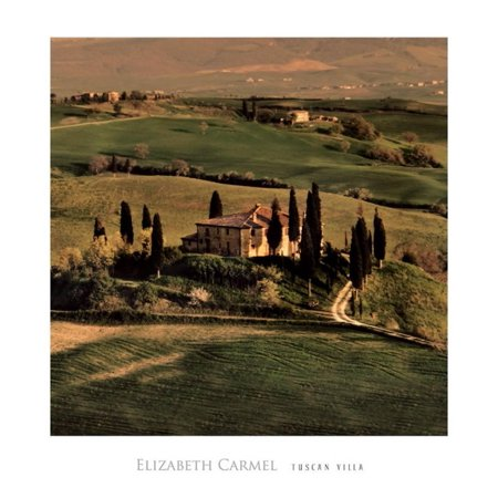 18x20 Racquets (Tuscan Villa Art Print By Elizabeth Carmel - 18x18)