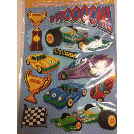 CHAMRED 3D POP-UP STICKERS. RACING (Racing Number Stickers)