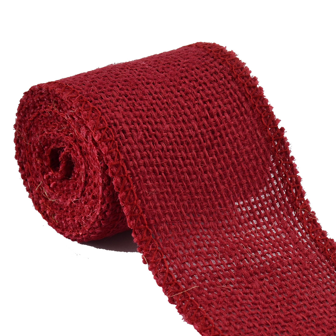 Unique Bargains Wedding Jute Belt String Strap DIY Craft Burlap Ribbon Roll 2.2 Yard 6cm Wide