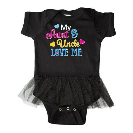 8ecb4ea15 My Aunt and Uncle Love me with Hearts Infant Tutu Bodysuit - Walmart.com
