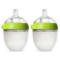 Comotomo Baby Bottle - 5oz, Green, 2 Pack