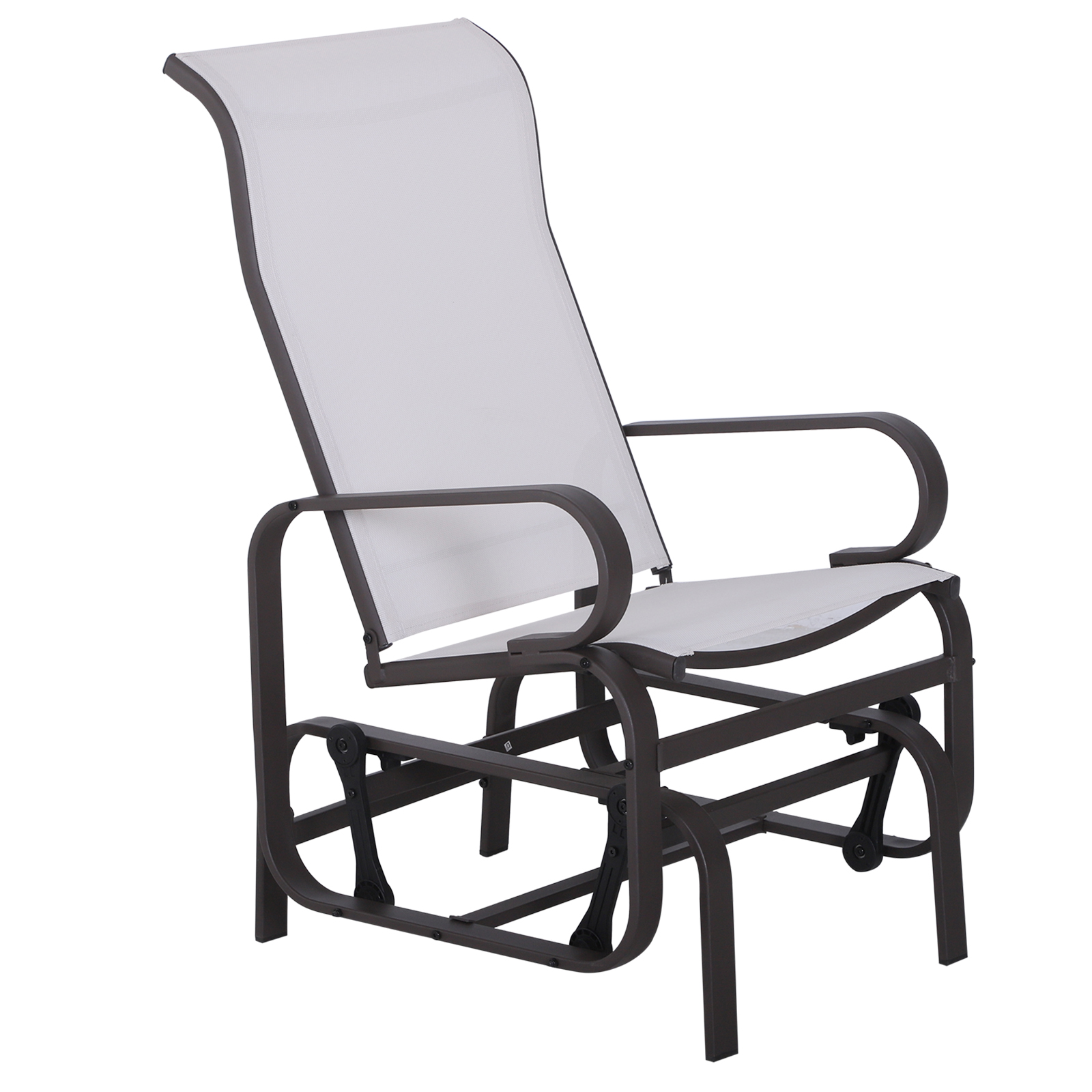 Outsunny Patio Sling Fabric Glider Garden Swing Chair Lounger Porch Rocker