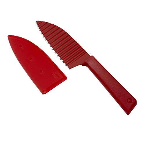 Kuhn Rikon Colori+ Krinkle Cut Garnish Knife, Red
