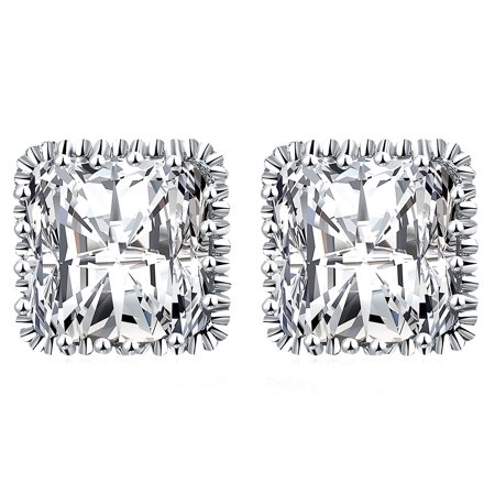 Square Diamond Stud Cubic Zirconia Earrings High Quality Fashion Jewelry Made For Women
