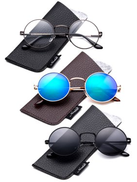 5b7ab5ef57a2 Product Image Round Retro John Lennon Sunglasses & Clear Lens Glasses  Vintage Round Sunglasses