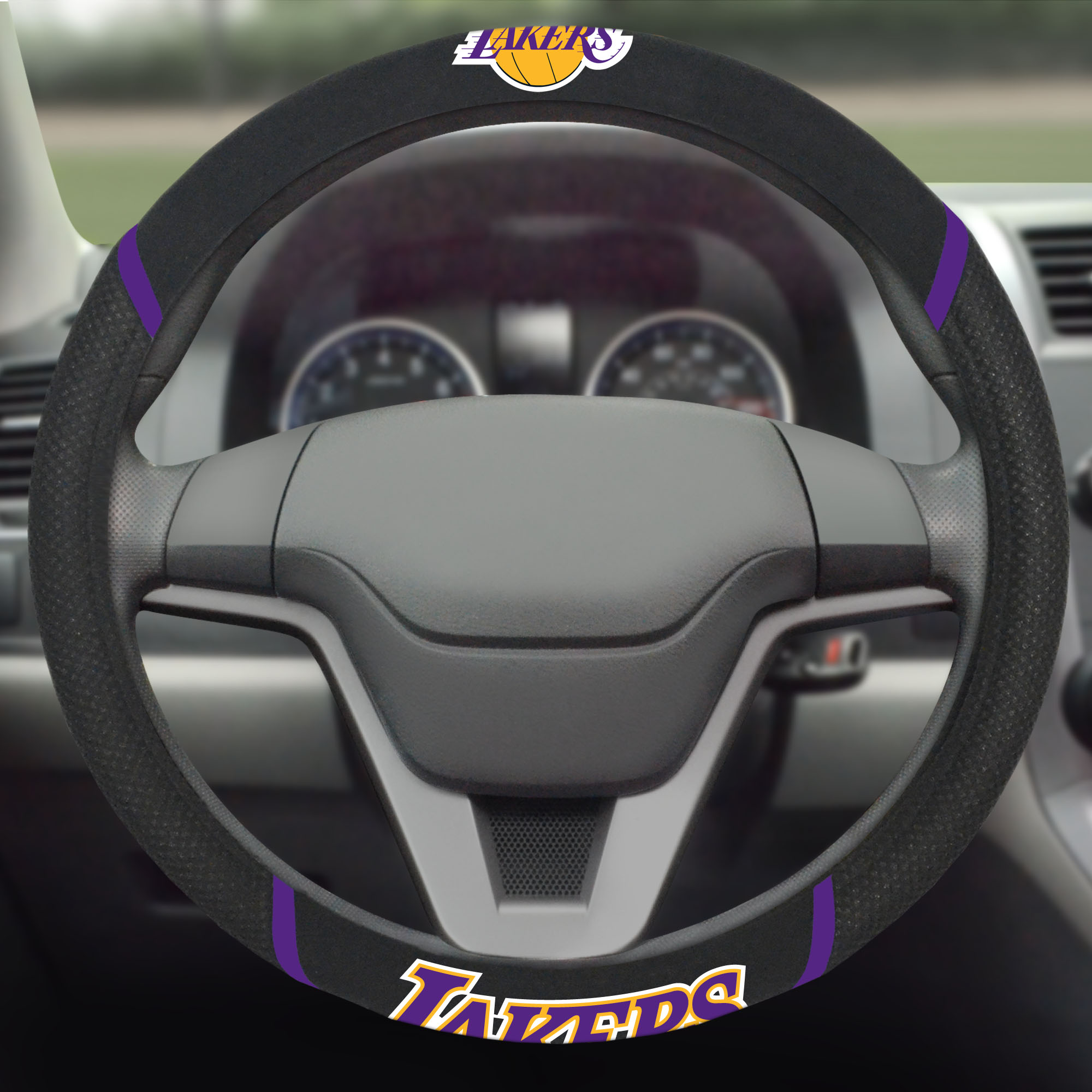 Los Angeles Lakers Steering Wheel Cover - No Size