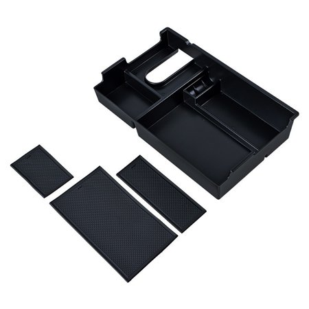 Car Armrest Storage Box Center Console Organizer Tray For Toyota Tundra 2014-18 - image 5 of 9