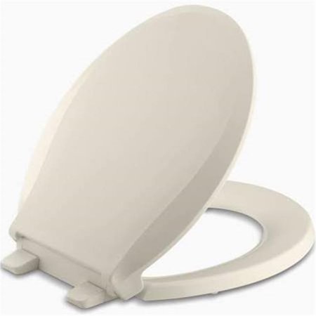 Kohler K463947 Cachet Quiet Close Quick Release Round Front Toilet Seat  Almond