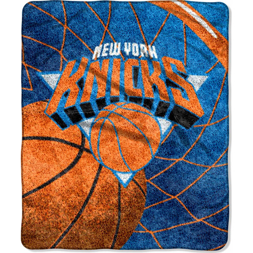 "NBA Reflect 50"" x 60"" Sherpa Throw, Knicks"