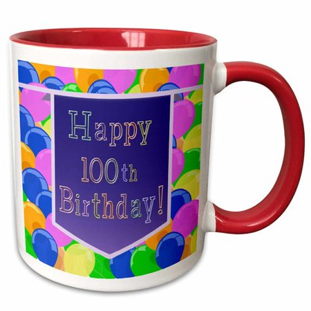 The Party Aisle Balloons with Banner Happy 100th Birthday Coffee - 100th Birthday Banners