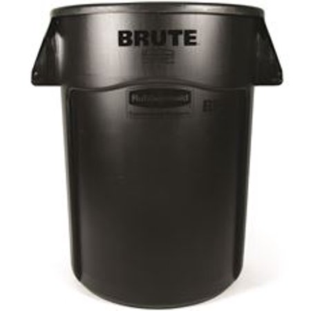 Gallon Brute Round Container Lid - Brute Round Utility Trash Can Without Lid, Black, 44 Gallons