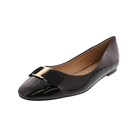 J.G Women's Kim Black Low Top Patent Leather Ballet Flat - 7.5M
