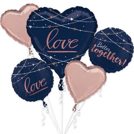 Navy Wedding Balloon Bouquet - Navy Balloons