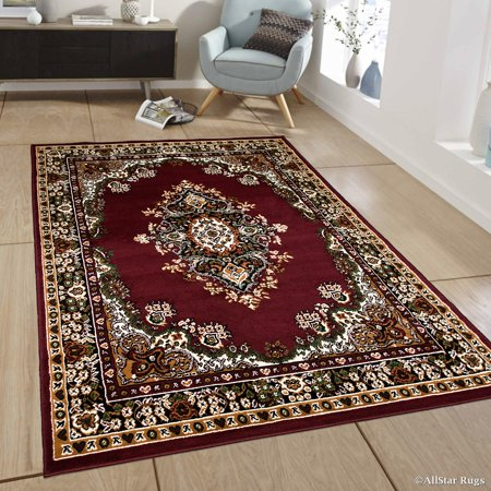 Allstar Burgundy Woven High Quality Rug. Traditional. Persian. Flower. Western. Design Area Rug (5' 2