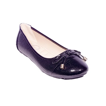Women's Ballerina Ballet Flats, Bow Buckle Slip Ons Shoes for Office & Casual - Colonial Shoe Buckles