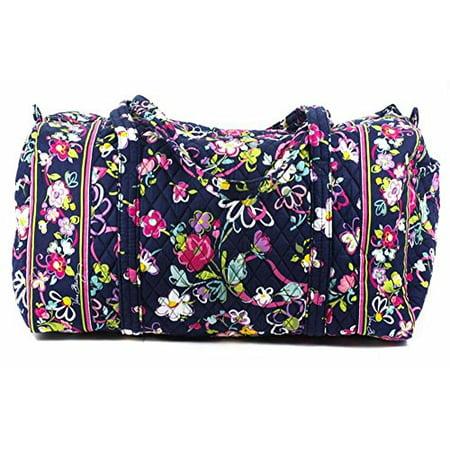 57bebe0f4d24 Vera Bradley Ribbons Floral Blue Pink Bag Travel Carry On Large Duffel New  - Walmart.com
