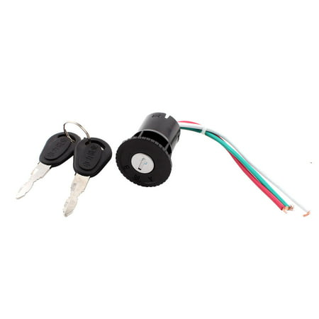 Unique Bargains Scooter Motorcycle Electric Bike 3 Wires Ignition Switch Lock w 2 Keys