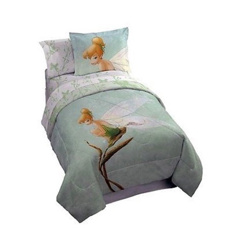 Disney Tinkerbell Tink Watercolor Twin Size Bedding Set 5pcs Bed