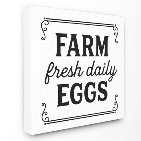 The Stupell Home Decor Collection Farm Fresh Eggs Daily Vintage ...