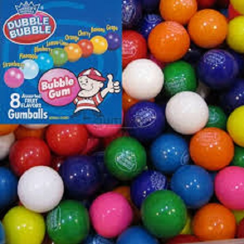 "100 ASSORTED GUMBALLS 1"" VENDING MACHINE BULK GUM BALLS"