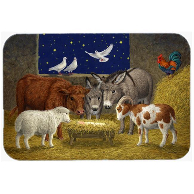 Animals at Crib Nativity Christmas Scene Kitchen or Bath Mat, 24 x 36 - image 1 of 1