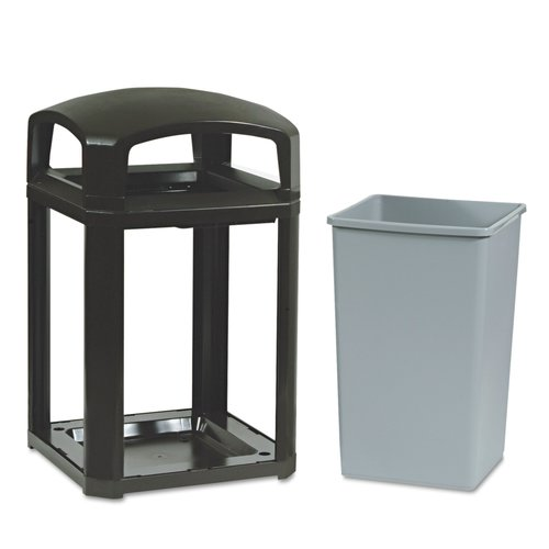 Premier Mounts Landmark Series Classic Dome Receptacle Top 35 Gallon Trash Can