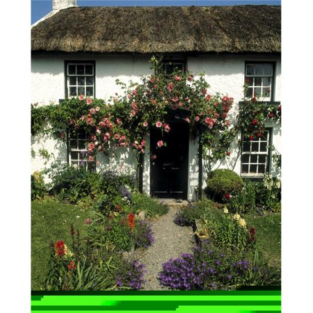 Posterazzi DPI1796963LARGE Thatched Cottage Carlingford Co Louth Ireland Poster Print by The Irish Image Collection, 24 x 30 - Large ()