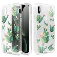 Cactus Cactus Rose Print Clear Case Shockproof Popular For iphone X XS XR XS Max