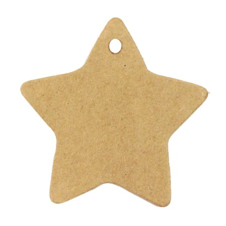Wrapables® 50 Gift Tags/Kraft Hang Tags with Free Cut Strings for Gifts, Crafts & Price Tags - Star These tags are the perfect gift accessory.
