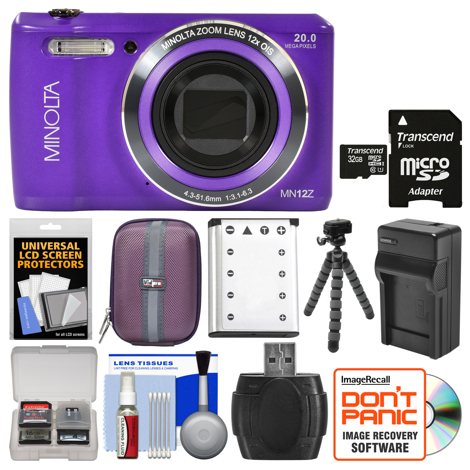 Konica Minolta MN12Z OIS 12x Zoom Wi-Fi Digital Camera (P...