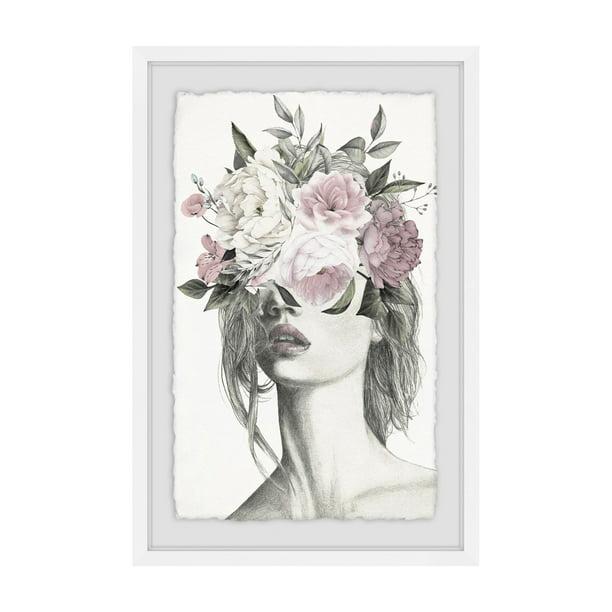 Marmont Hill Smokey Flower Crown Ii Framed Painting Print Walmart Com Walmart Com