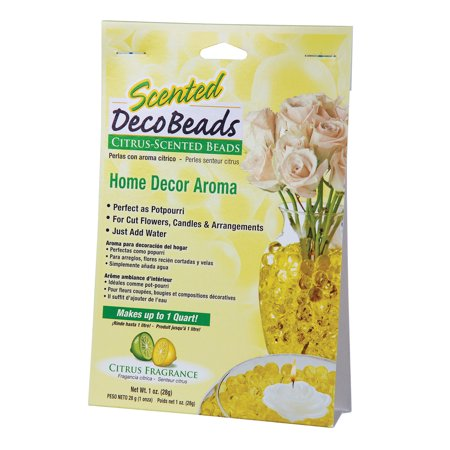 Scented Deco Beads (Lemon Lime Yellow) 1 Ounce Pack Makes 1 quart of Decorative Beads Gel Vase Filler (Decorative Beads)