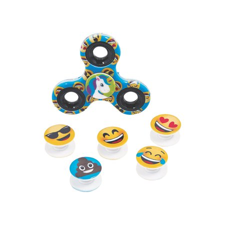 Fun Express - Emoji Interchangeable Fidget Spinner - Toys - Value Toys - Misc Value Toys - 6 Pieces Emoji Interchangeable Fidget Spinner - Toys - Value Toys - Misc Value Toys - 6 Pieces