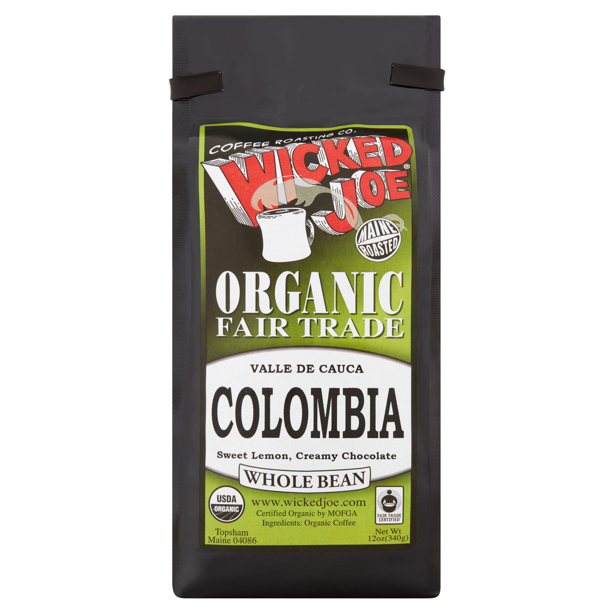 Wicked Joe Coffee, Coffee Bean Organic Medium Roast, 12 Oz (Pack Of 6)