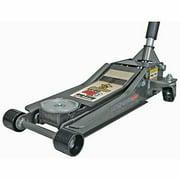Heavy Duty Ultra Low Profile Steel Floor Jack w Rapid Pump Lifts Most Work Loads