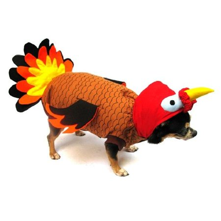 High Quality Fall Dog Costume TURKEY BIRD COSTUMES Dress Dogs For Thanksgiving (Size 1)