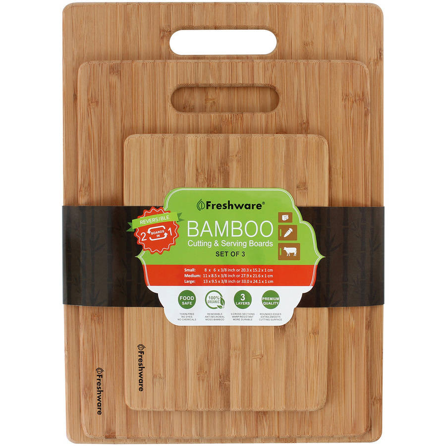 Freshware Bamboo Cutting Boards, 3-Piece, BC-200PK by Freshware
