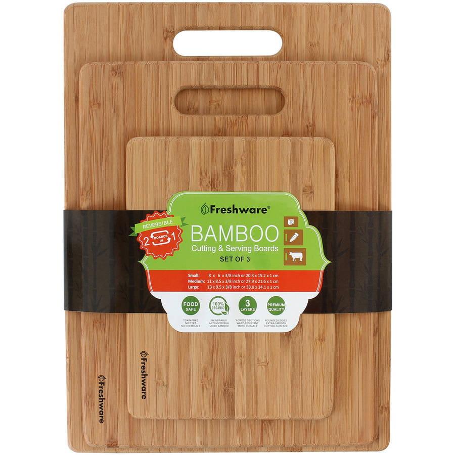 Freshware Bamboo Cutting Boards 3 Piece Bc 200pk Walmartcom
