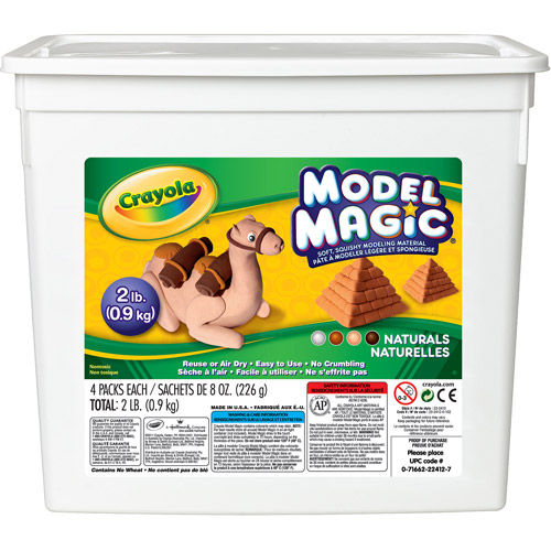 Crayola Model Magic Modeling Compound, Natural, 4 Colors