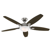 """Hunter 52"""" Contempo Ceiling Fan Light in Brushed Nickel"""